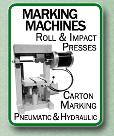 marking machines, roll and impact presses, carton marking